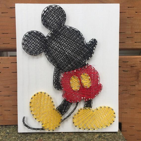 Mickey Mouse Balloon string art