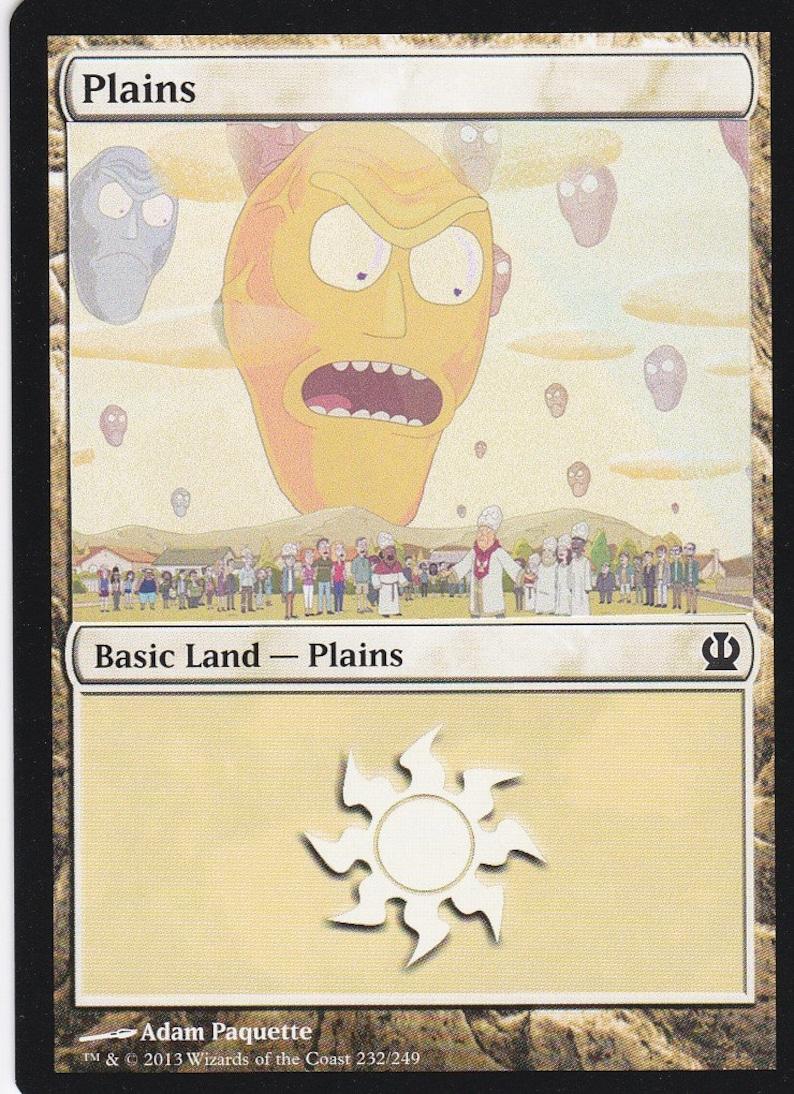 1x Altered Art Forest Custom Basic Land non-foil MTG card