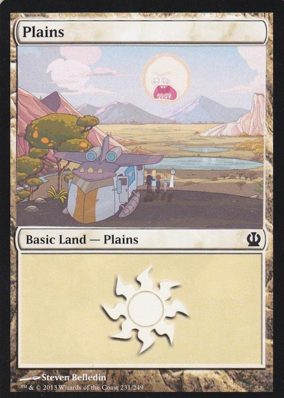 Custom Basic Land non-foil MTG card 1x Altered Art Plains