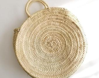 Round Straw Bag with Straw Handles 222557104c489
