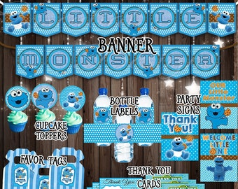 Cookie Monster Baby Shower Etsy