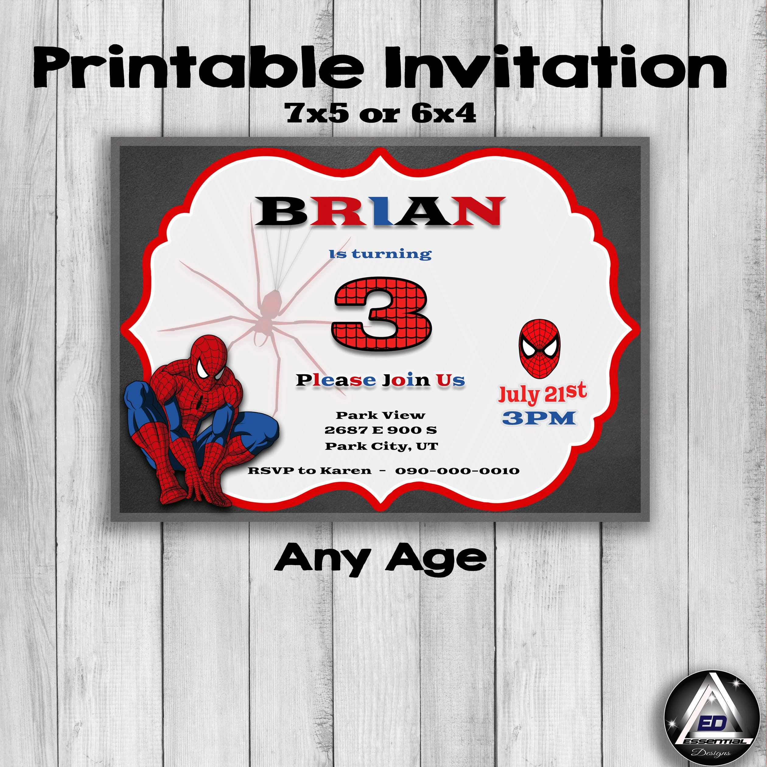 graphic regarding Printable Spiderman Invitations named Spiderman Birthday Invitation, Spiderman Celebration, Printable, Initial Birthday, Get together Favors, Small children Invites, Bash Invite, Spider-Guy Invite