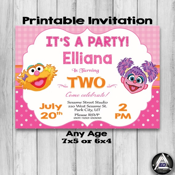 photo about Etsy Printable Invitations named Abby Cadabby Birthday Invitation, Zoe Invitation, Sesame Road Get together, Abby Cadabby Invite, Very first Birthday Invitation, Printable Invites