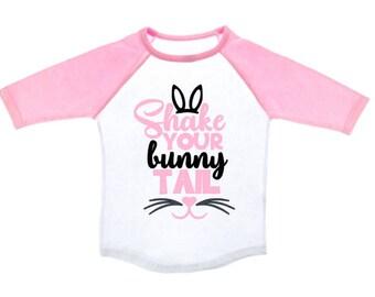 Kids Easter Shirt - Shake Your Bunny Tail