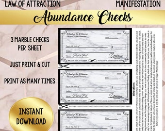 photo relating to Printable Abundance Check identify Abundance examine Etsy
