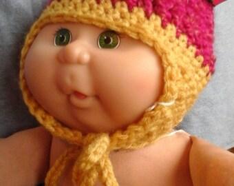 Hand crocheted baby winter hat