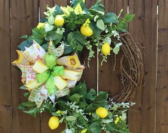 Beautiful lemon wreath