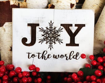 Rustic Joy to the World Sign
