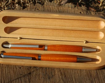 Osage Orange wood pen & pencil set