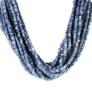 Tanzanite Smooth Square Beads Heishi Shape 4x5.mm Approx 16Inches Natural Top Quality Wholesale Price