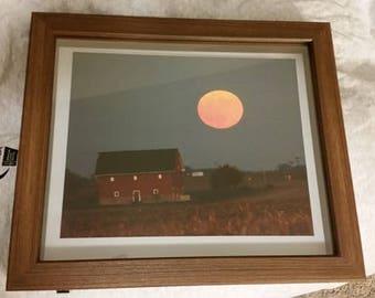 Harvest Moon 8x10 Photograph Floating Frame