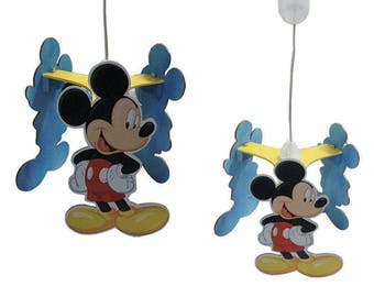Chandelier type Mickey Mouse pendant for children's room