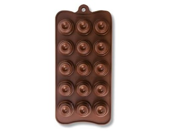 Silicone Mould 15 Chocolates cm 22x10 Dolcemania