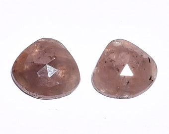 14.35 Ct. 100% Natural Grey Sapphire Pear Shape Faceted Gemstone Pair HB-1866