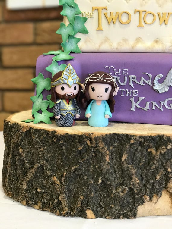 Remarkable Lord Of The Rings Wedding Cake Topper Etsy Birthday Cards Printable Giouspongecafe Filternl