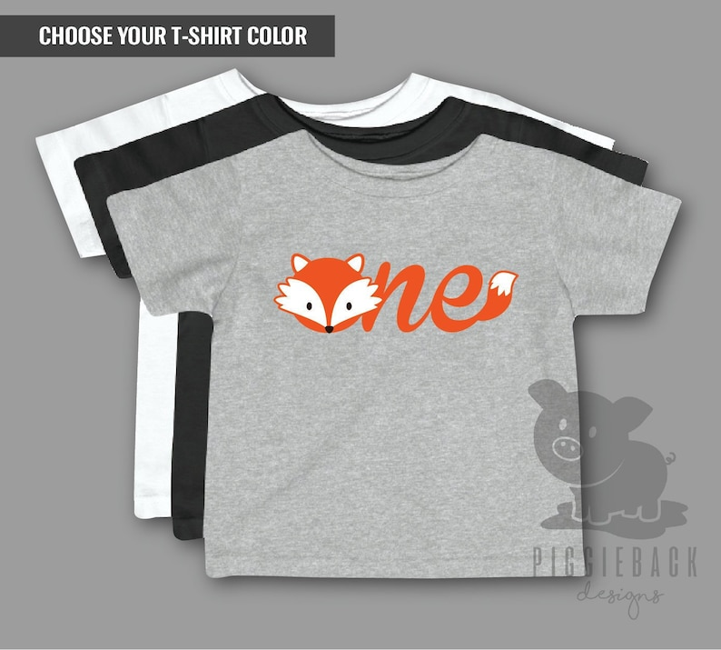 Fox Birthday Shirt First Grey