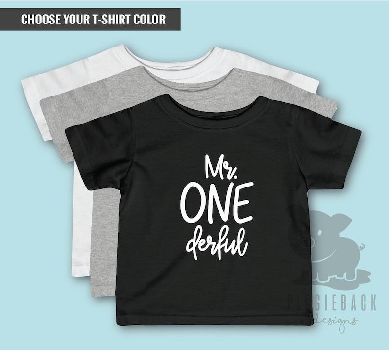 Mr Onederful Shirt 1st Birthday My
