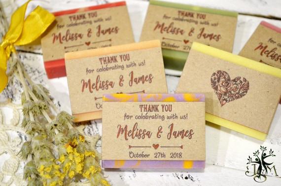 10 Wedding Favors Soap Mini Soap Favors Personalized Soap Etsy