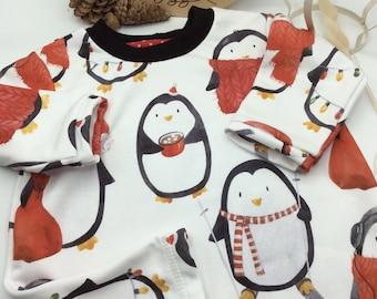 Baby Dress Christmas Gr.74-80 Penguin Dress Baby Gifts Christmas ready to ship Girlfriend DIY Single Piece