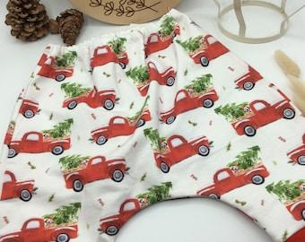 Pump Pants Christmas Gr.56-62 Single Piece Co-wax Pants Gifts St. Nicholas ready for shipment Baby Pants DIY