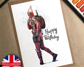 Deadpool Gift Birthday Card Funny Boyfriend Party Idea
