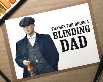 Fathers Day Card, Fathers Day Gift, Peaky Blinders Card, Peaky Blinders Gift, Peaky Blinders, Tommy Shelby, Funny Fathers Day Card, Dad Card