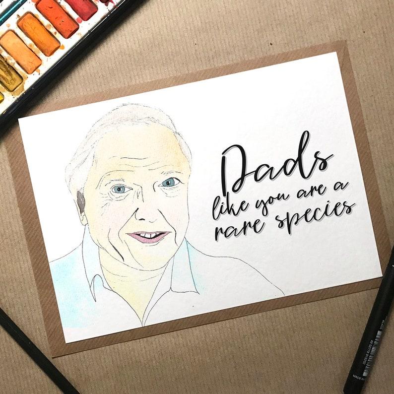 Birthday Card Dad David Attenborough Fathers Day Funny