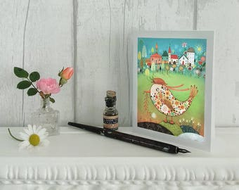 The Pretty Duckling - Cute and Whimsical Note Card