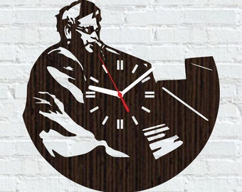 wooden clock elton john singer fan lover gifts for mom dad men womenmusic decorations ideasbirthday christmas wedding party