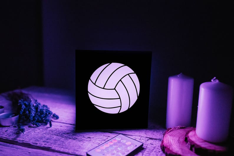 Wood Night Light Volleyball Gifts For Men