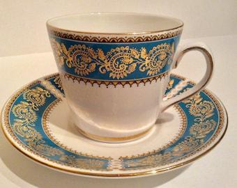 Elizabethan bone china,blue and gold bone china,  bone china cup and saucer, Elizabethan bone china teacup, bone chinaElizabethan