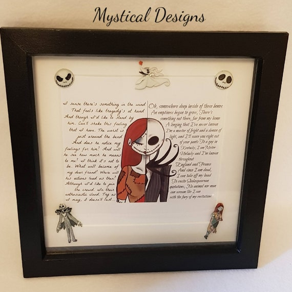 The Nightmare Before Christmas Shadow Box Frame Jack | Etsy