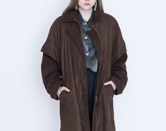 VINTAGE Brown Retro Long Coat