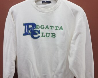 bd2cead68ec28c Vintage Regatta Club Sweatshirt Urban Sport Street Wear Swag Sweater Size L