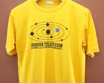79a676cb29 Vintage 24 Hour Television Universe T-Shirt Japan Sub Culture Street Wear  Top Tee Size L