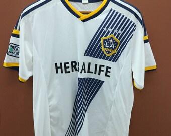 30a4cfe28 Vintage LA Galaxy No.95 Jersey T-Shirt Football Major League Soccer Sport  Wear Top Tee Size L