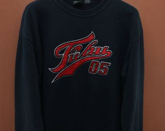 Vintage FUBU 05 Big Logo Sweatshirt Hip Hop Swag Street Wear Sweater Size L