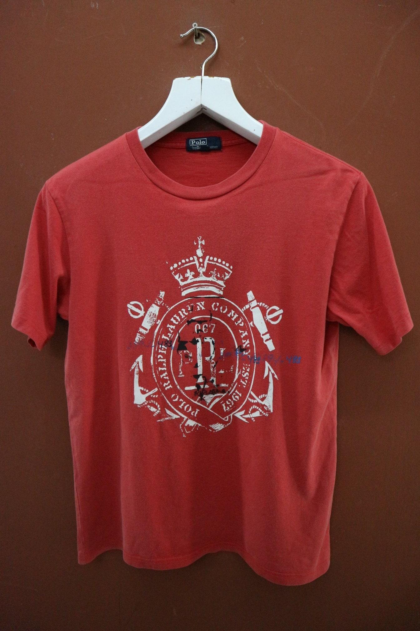 Polo Ralph Lauren Vintage Couronne T-Shirt Designer Casual Street porter  haut tee-shirt taille 160 d5599e267a42