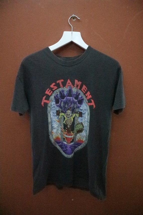 T Vintage World Wear Top Band Metal Heavy Shirt Tour TESTAMENT Tee 90's Brockum rqIwUqTp