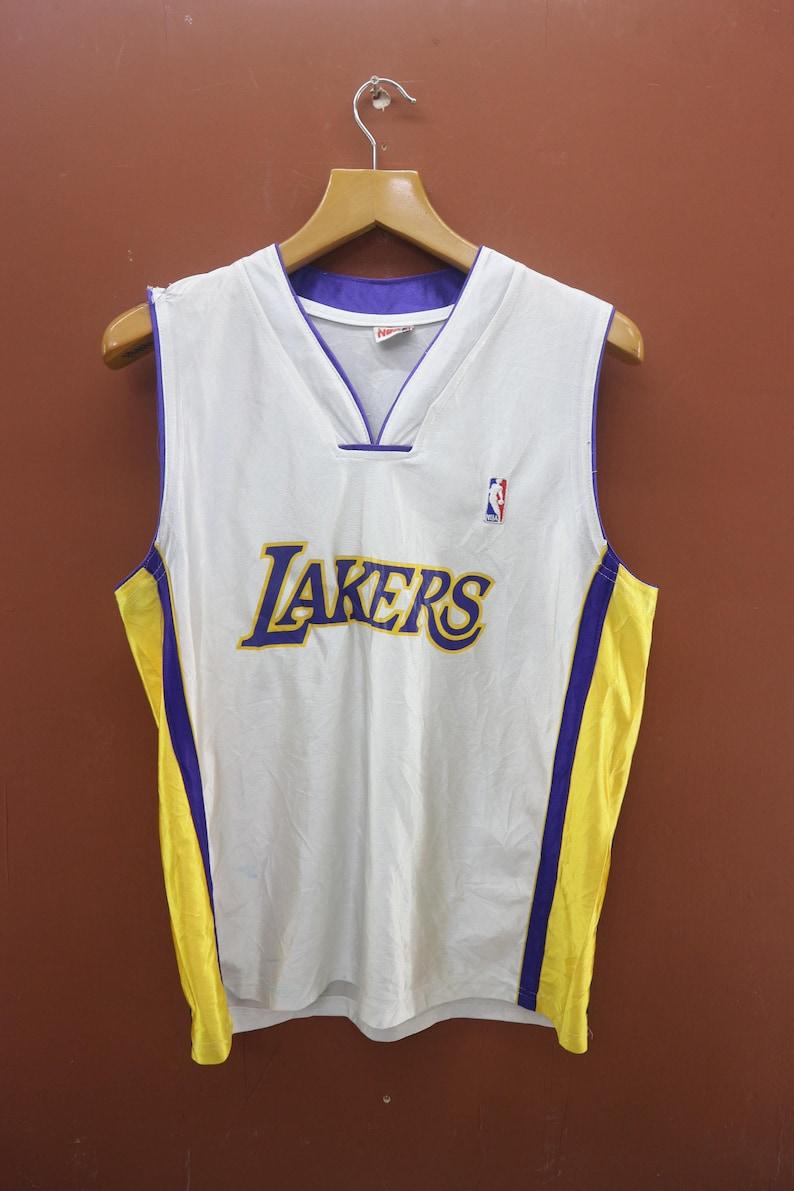 timeless design aed74 a6127 Vintage LA Lakers Jersey Tank Top Nike Air Jordan Street Wear Top Tee