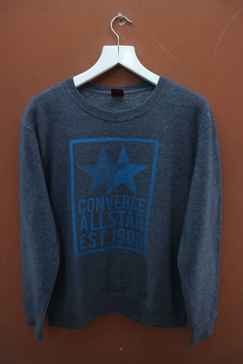 c22605f4f6098 Vintage Converse All Star Sweatshirt Chuck Taylor Powell Peralta Skate  Street Wear Size LL