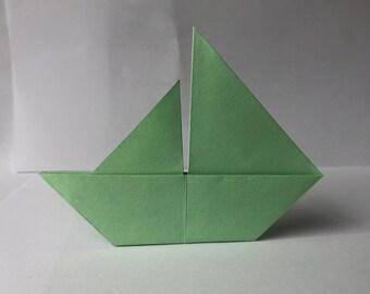 Origami Paper Boat Etsy