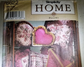 Simplicity Home 8622 decorator pillow pattern NEW