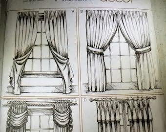 Vogue Decor V7891 Pinch pleat drapery pattern 4 variations NEW