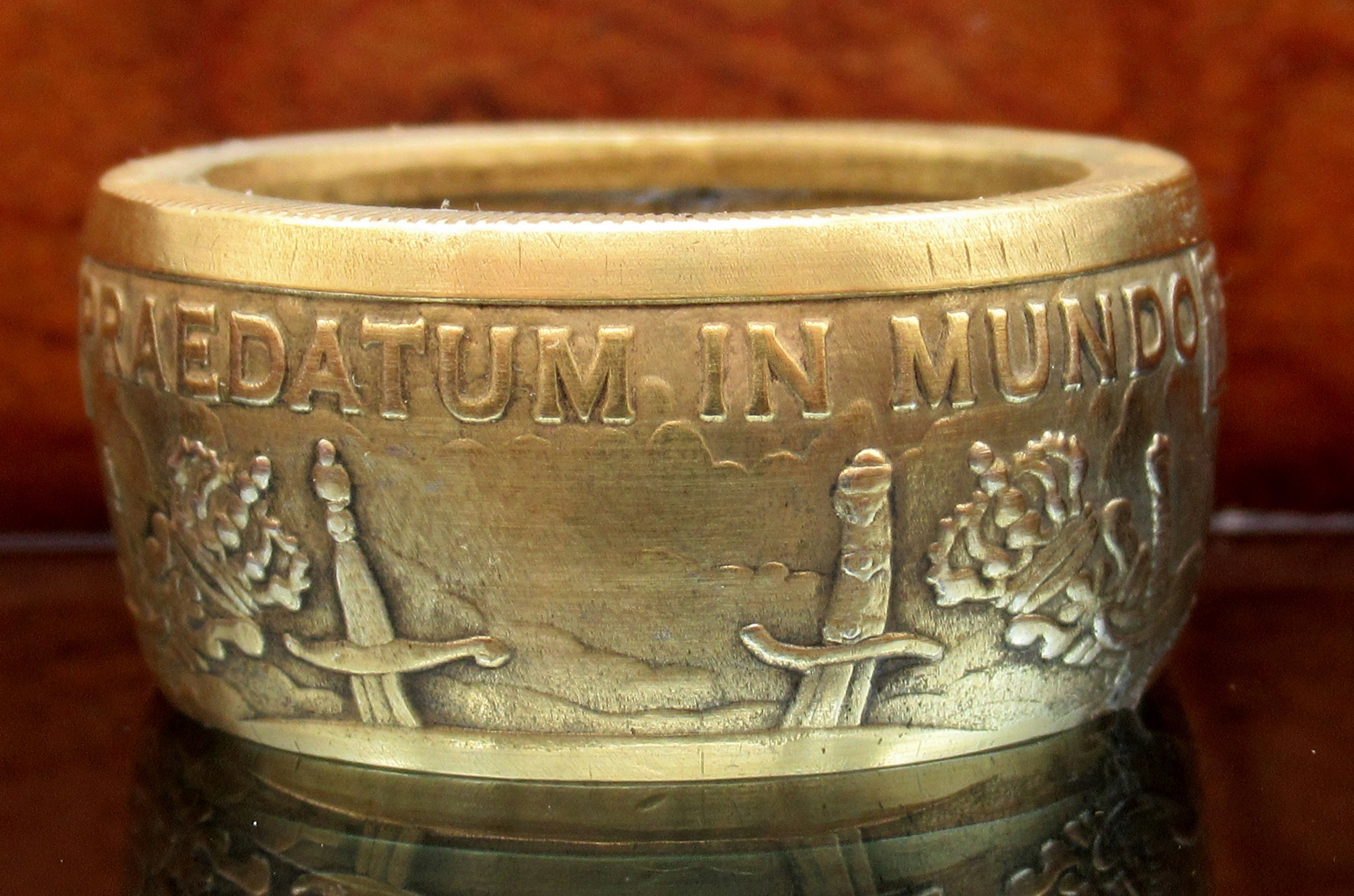Pieces of Eight Pirate coin ring Pure silver coin ring Praedatum In Mundo