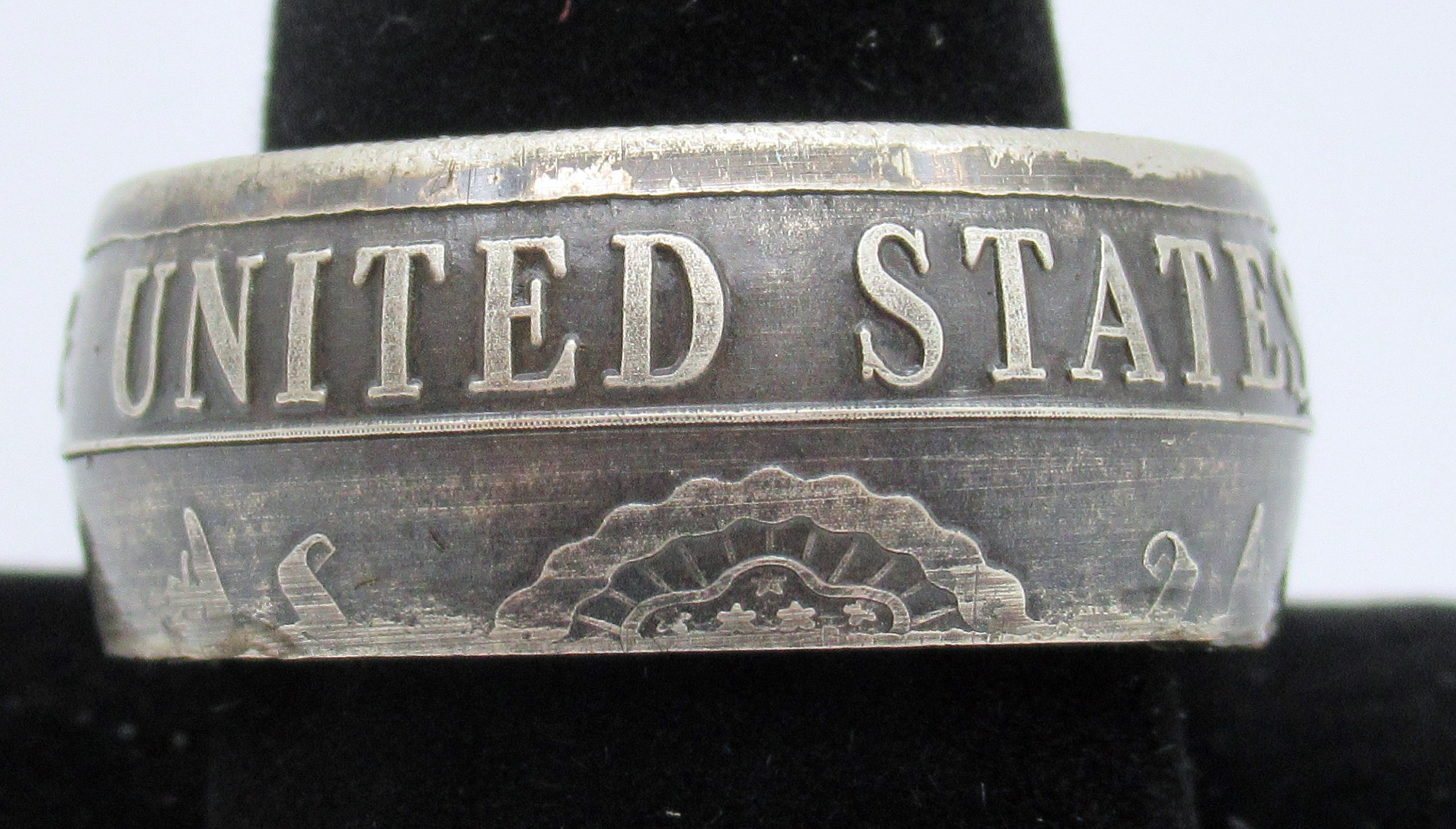 United States Army military challenge coin ring from pure  999
