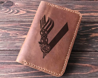 Vikings Passport Wallet Personalized Leather Passport Holder. Ragnar Lothbrok Passport Cover Passport Case Travel Wallet Ragnar Lodbrok k43