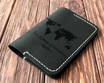 Personalized Passport Cover Leather Passport Holder Travel Gift Passport Wallet Gift for Traveler Leather Passport Holder Couple Gift k25