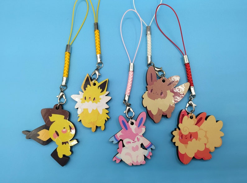 Wooden poke charms