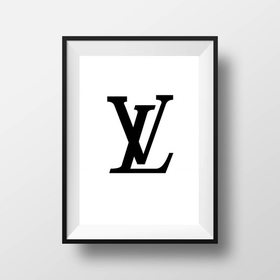 30 off louis vuitton logo poster print louis vuitton wall etsy